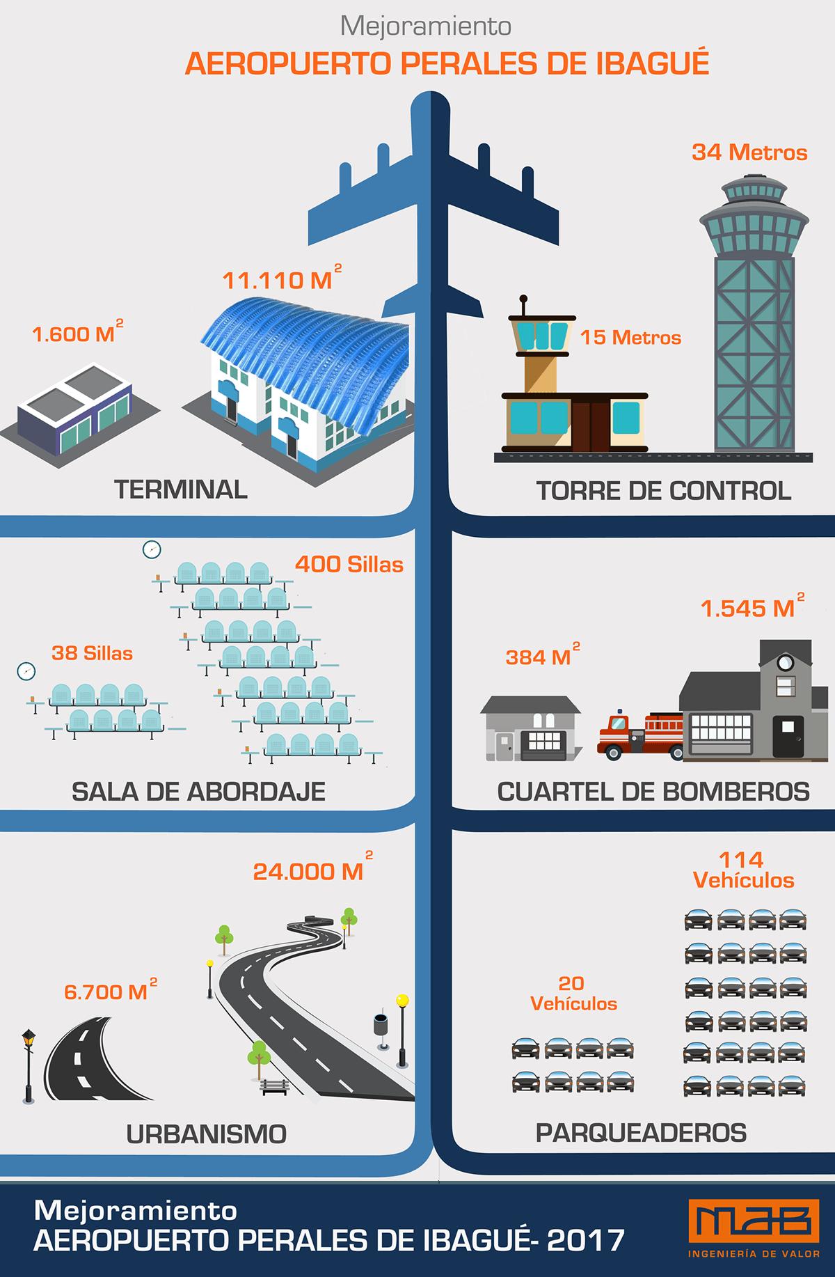 Infografía Aeropuerto Perales Ibagué